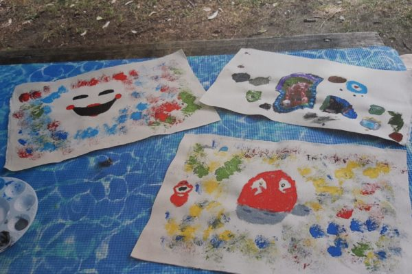 portrait of paintings made by kids
